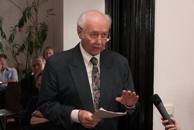 Prof Kurt Rudolph Leipzigi Religiooniteaduse Instituudi 100. sünnipäeva üritusel, foto: Freunde und Förderer der Religionswissenschaft Leipzig e.V.