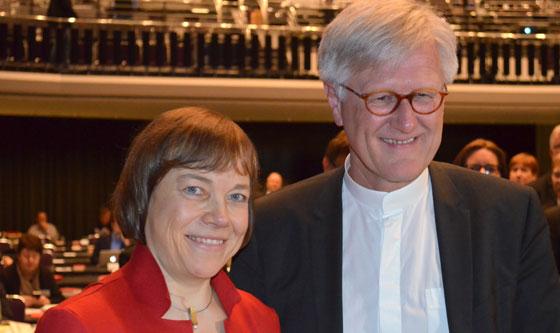 Annette Kurschus ja Heinrich Bedford-Strohm. Foto: ekd.de