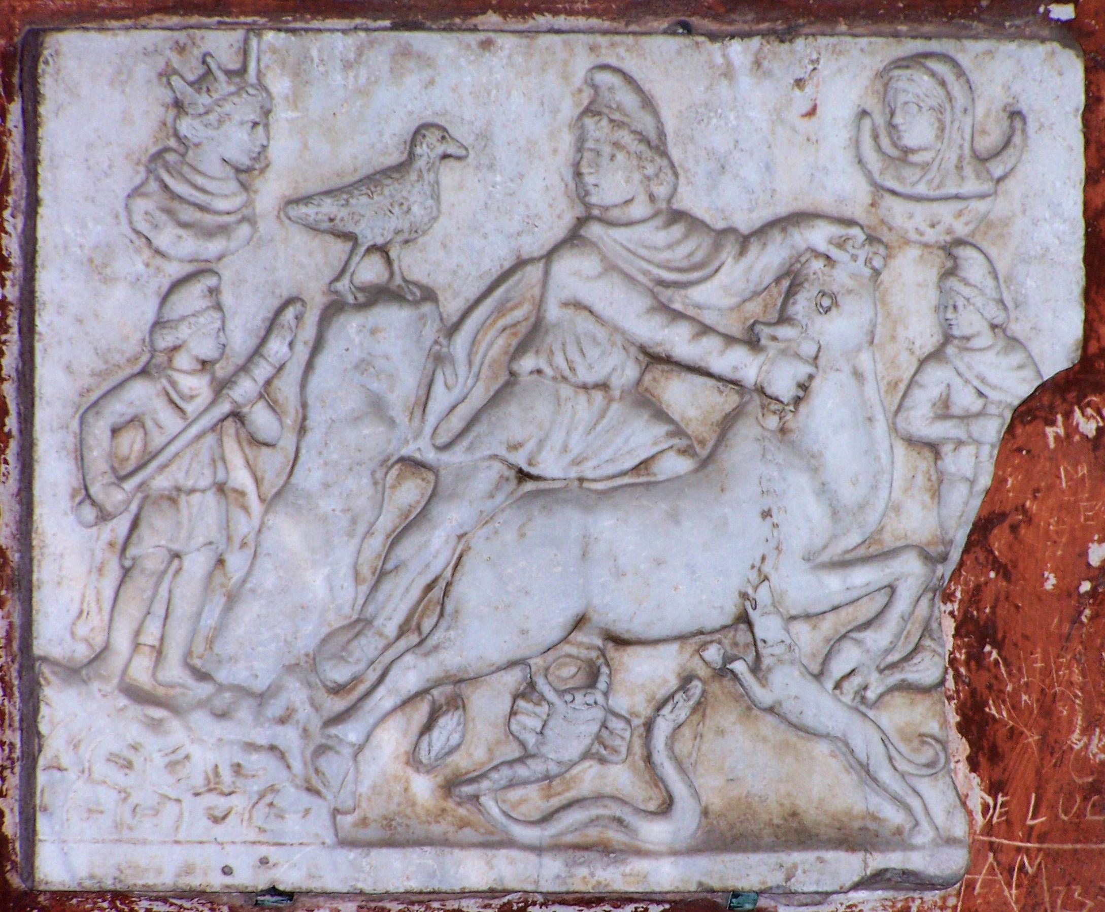 Foto 7: Mithrast kujutav reljeef Pisast (Itaalia) (foto: Jaan Lahe).