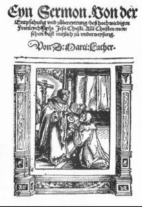 1523. a gravüür kujutab suure tõenäosusega Lutherit armulauda jagamas (Piepkorn 1987: ill. 27)