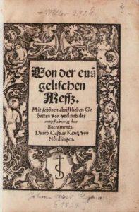 Kaspar Kantzi missakord 1522