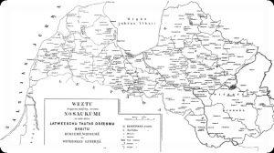 Kaardil on märgitud rahvalaulude kogumisel korrespondentidelt saadud vastused piirkonniti